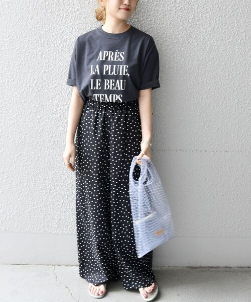 [SHIPS for women] SHIPS any: PROVERB ロゴTEE◆