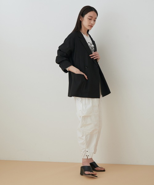 [ADAM ET ROPE'] リネンストレッチシャツジャケット5