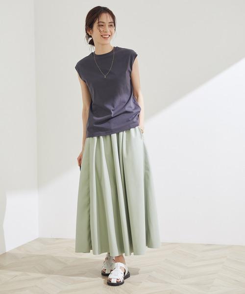 エコレザーギャザースカート