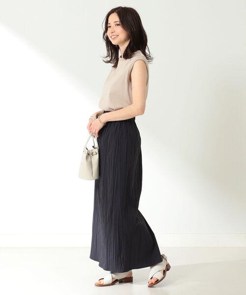 [BEAMS WOMEN] Demi-Luxe BEAMS / ワッシャー タイトスカート