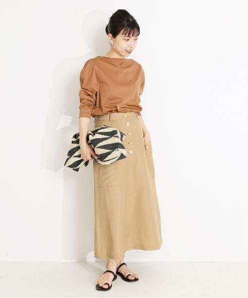 [IENA] フロントフライタイトスカート◆
