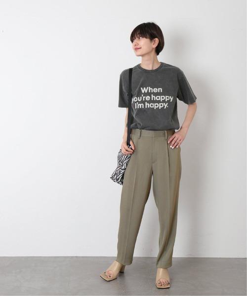 [JOURNAL STANDARD] 【MIXTA/ミクスタ】別注 WHEN YOURE HAPPY IM HAPPY:Tシャツ◆
