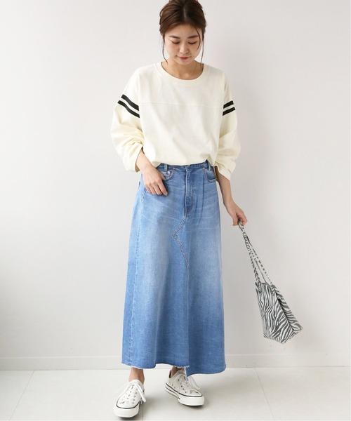 [JOURNAL STANDARD] リメイク風デニムスカート◆