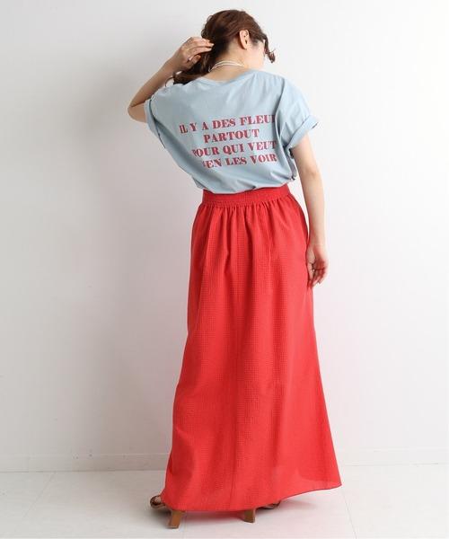 [IENA] BACK LOGO Tシャツ◆