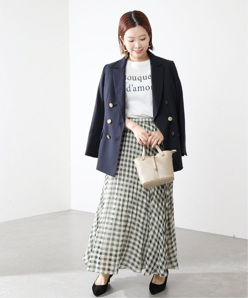 [La TOTALITE] 《追加》ブロックチェックプリーツスカート【手洗い可能】◆