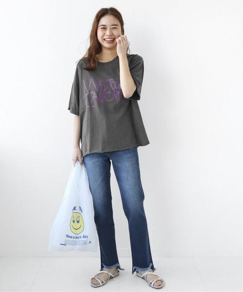 カットオフロゴTシャツ