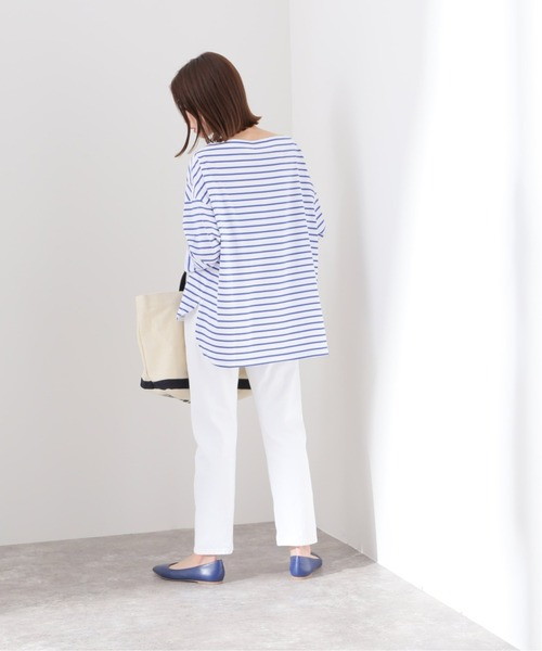 [IENA] ルーズスリットスリーブTEE【手洗い可能】◆