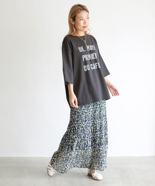 [IENA] OKグラフィックロゴBIGTシャツ【手洗い可能】◆