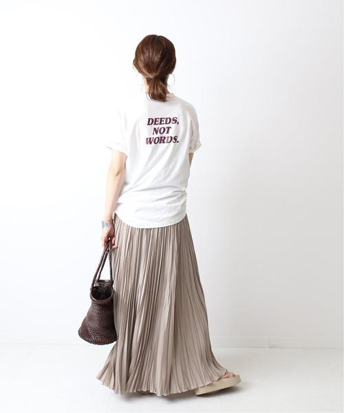 [Spick & Span] ロングスラブロゴTシャツ◆