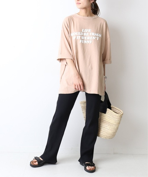 [Spick & Span] ロングスラブロゴBIG Tシャツ◆