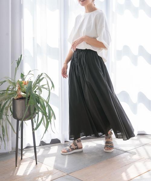 インド綿ギャザーマキシスカート