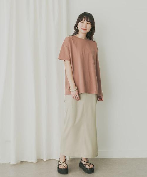 【WEB限定】KBF+ アシメスリーブオーバーTシャツ