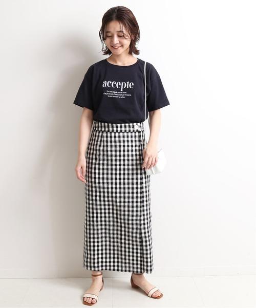 [IENA] リネンラップスカート【手洗い可能】◆