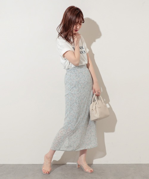 【WEB限定】儚げフラワースカート
