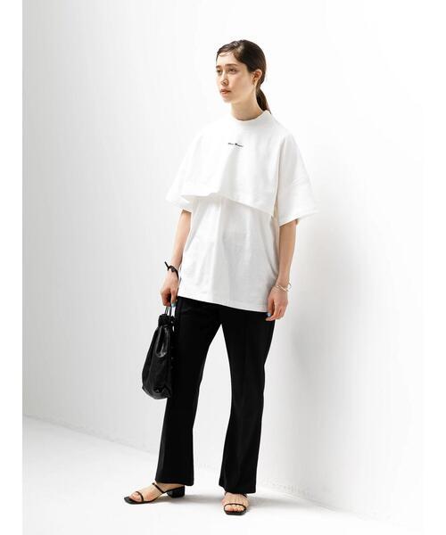 [koe] フロント刺繍レイヤー風半袖Tシャツ**7
