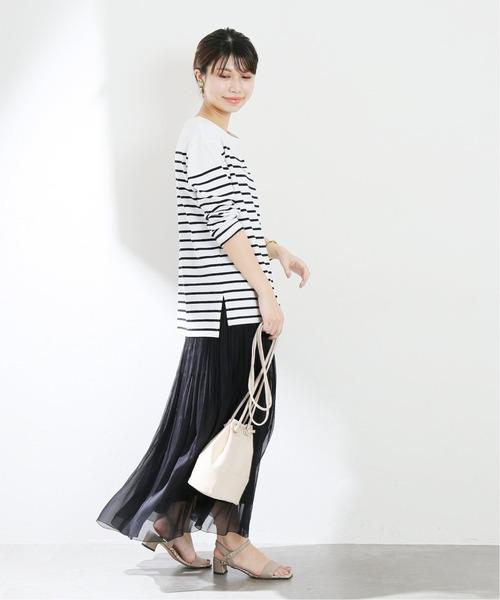 楊柳シアープリーツスカート【手洗い可能】◆