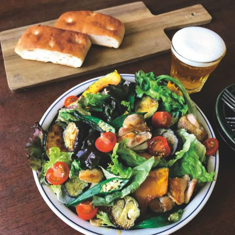 鶏肉と夏野菜のおかずサラダ