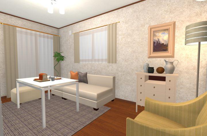 家具の色を「膨張色」にした場合4