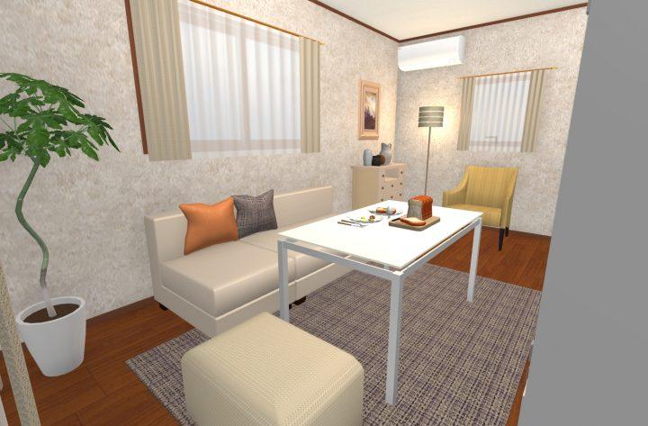家具の色を「膨張色」にした場合3