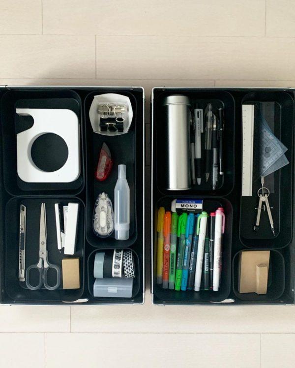 カッコいいケースで文房具を収納するアイデア