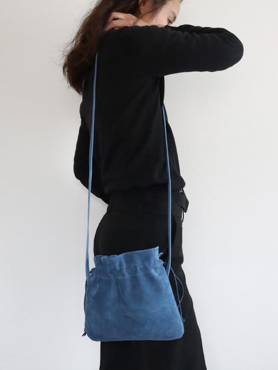 FOLNA(フォルナ)ピッグスエード巾着ショルダーミニ5