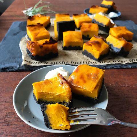 絶品♡スイートかぼちゃキューブケーキレシピ