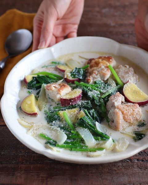 栄養◎鶏とほうれん草のクリーム煮レシピ