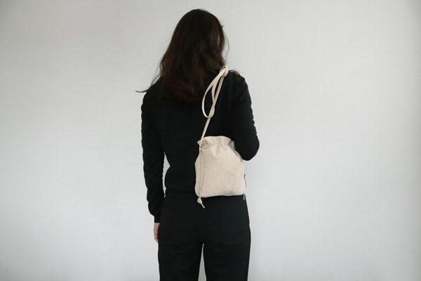FOLNA(フォルナ)ピッグスエード巾着ショルダーミニ6