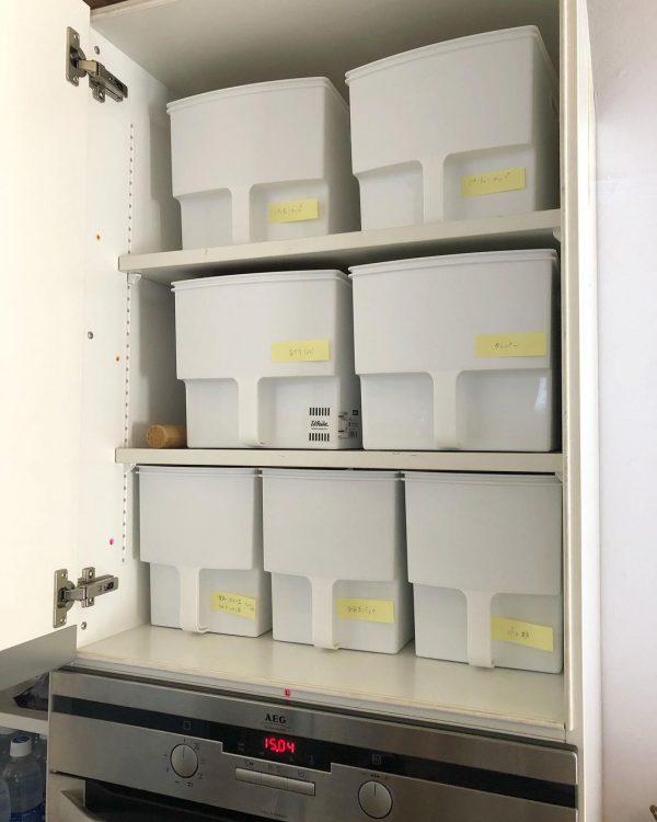 吊り戸棚ボックスを使うシステムキッチン収納