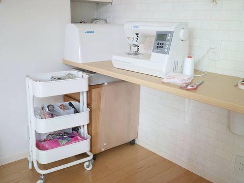 IKEAの人気ワゴンを活用した裁縫道具収納