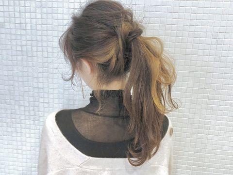 インナーカラーが活きるヘアアレンジ12
