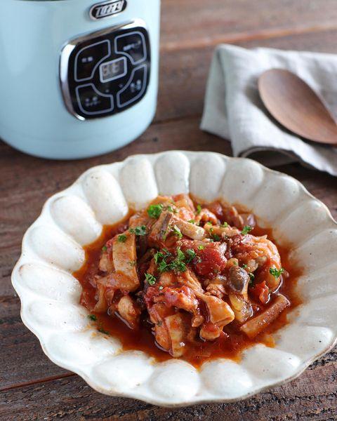 おしゃれおかず♡チキンのトマト煮レシピ