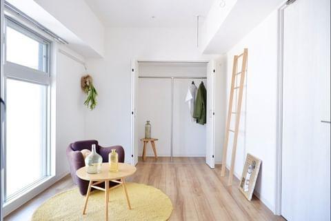 色調が明るい北欧スタイルの部屋