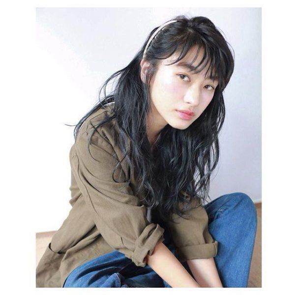 黒髪×シースルーバング14