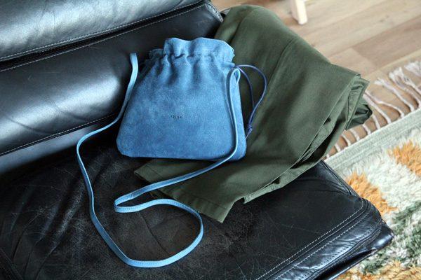 FOLNA(フォルナ)ピッグスエード巾着ショルダーミニ10