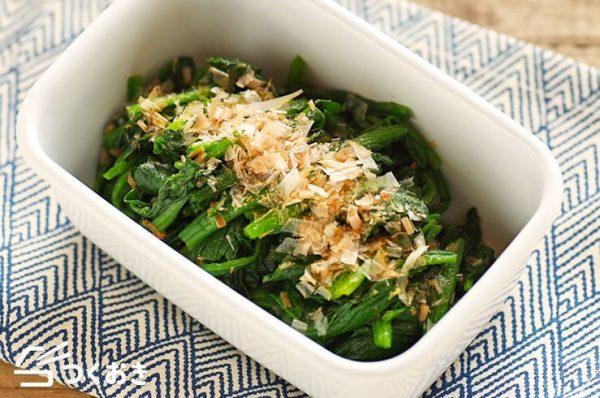 おすすめ副菜♪ほうれん草のおかか和えレシピ