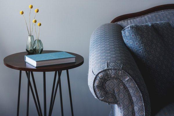 人気の幾何学模様のソファ
