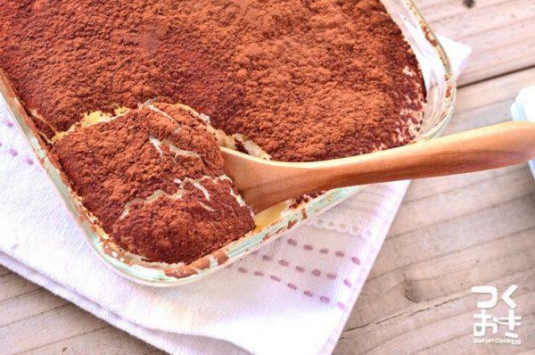 カフェ風お菓子♡簡単アイスティラミスレシピ