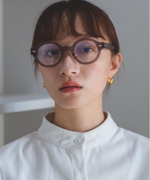 [chuclla] 【SANSeLF】round clear sunglasses sana4