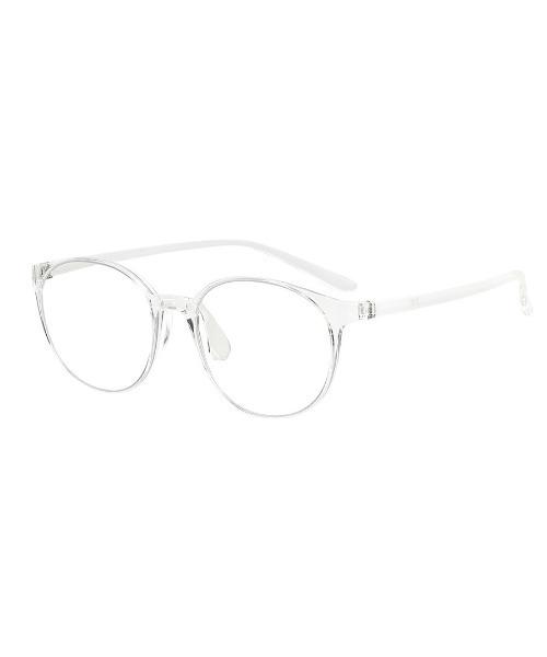 [Zoff] ボストン型 クリアレンズサングラス Zoff UV CLEAR SUNGLASSES (UV100%カット)