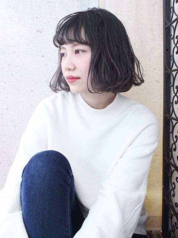 黒髪×シースルーバング6