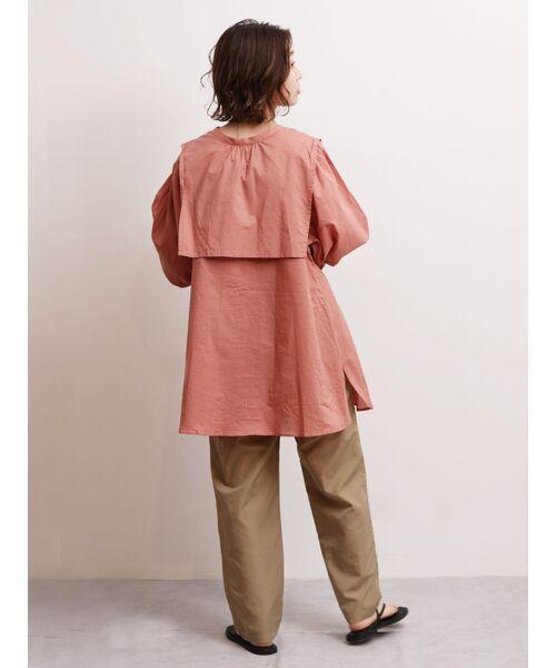 [Ungrid] 【WEB限定】ヨークデザインノーカラーシャツ(※完売カラーは品番:112140417601をチェック!)