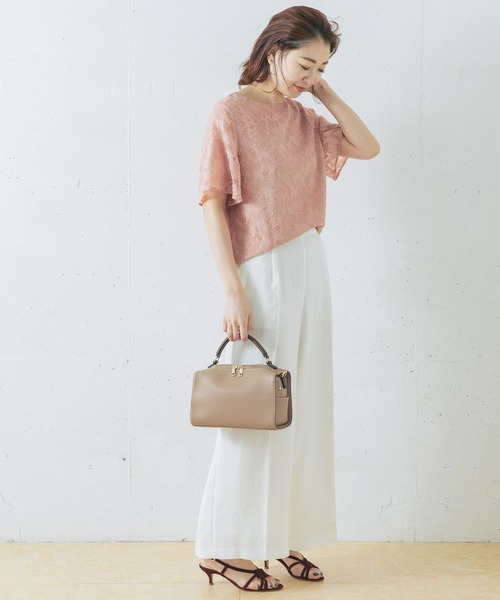 [URBAN RESEARCH ROSSO WOMEN] 【WEB限定】フラワーカットジャガードブラウス