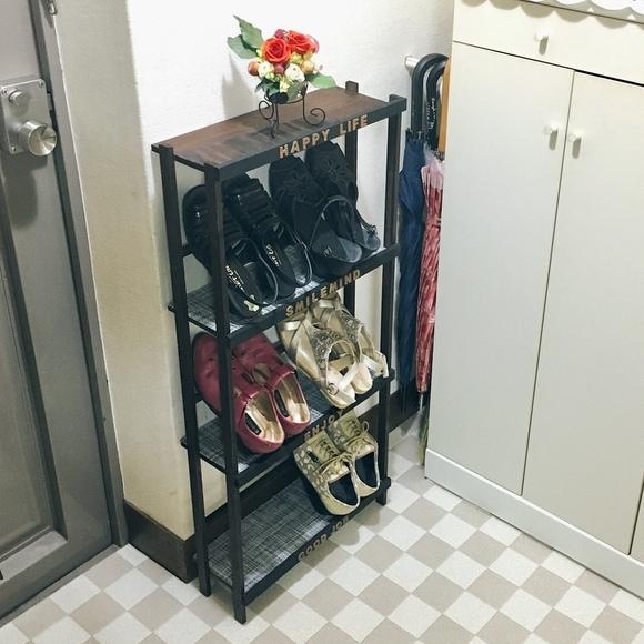 靴を立てられる棚のDIY収納