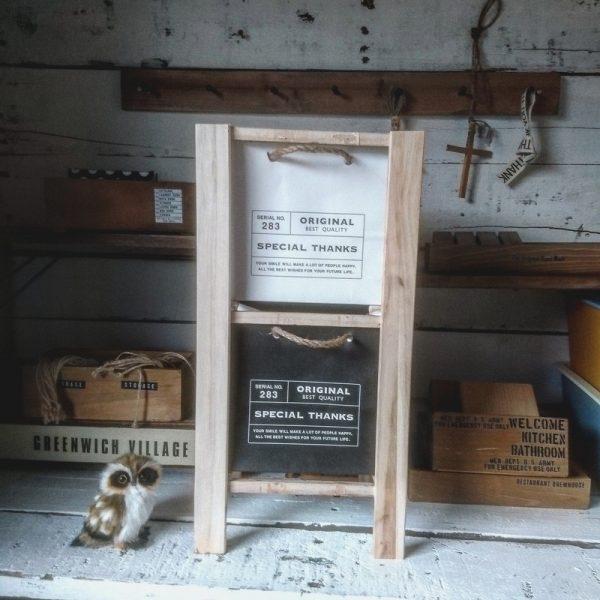 紙袋と収納ラックのリビング100均DIY