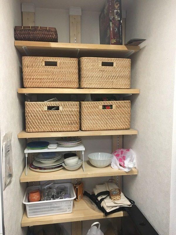 ディアウォールでDIYしたおしゃれな食品棚