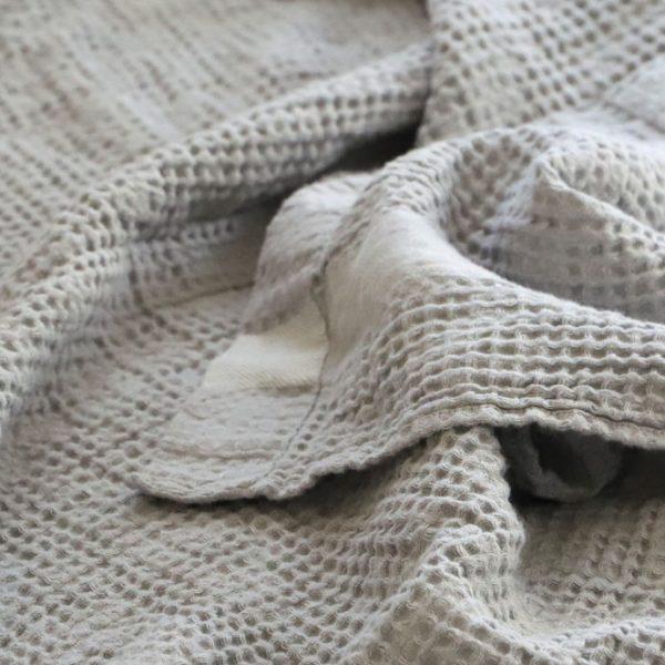 凸凹したワッフル織り─トランザット、エキュム