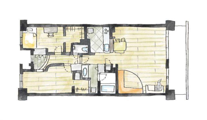 おしゃれな家事室のあるリノベーション実例4