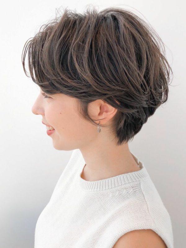 ハンサムショート×パーマのかっこいい髪型