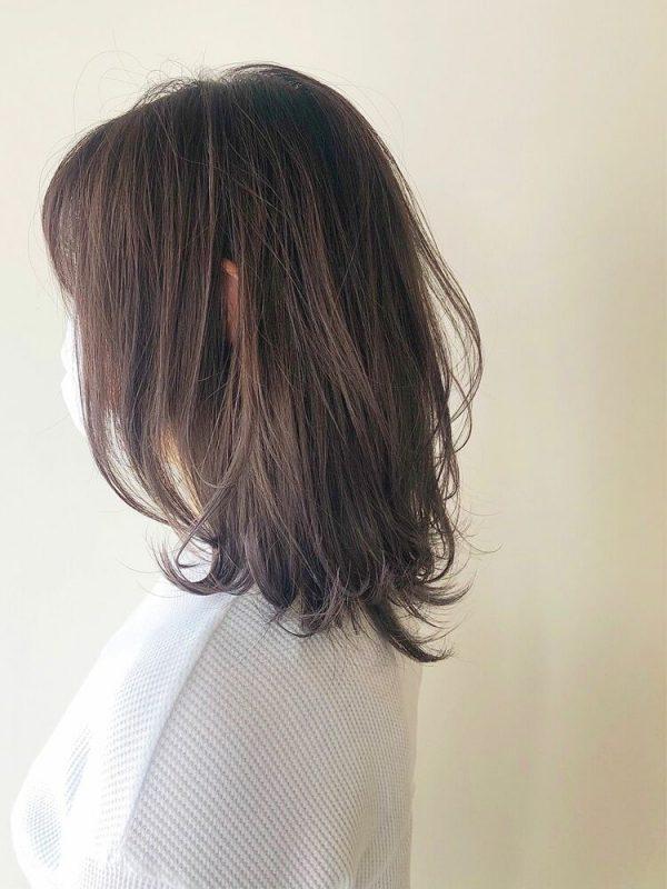 40代向け!くびレイヤーグレージュミディアムヘア